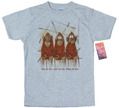 Three Wise Monkeys Design T Shirt