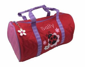 Image Is Loading Personalised Childrens Toddler 039 Ladybird Duffle Bag