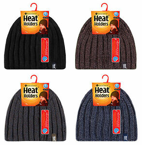 Heat-Holders-Homme-chaud-hiver-froid-polaire-fourre-nervure-chapeau-thermique