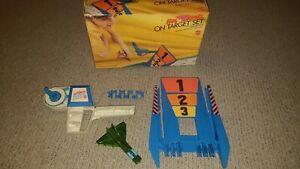 Vintage-Hot-Birds-On-Target-Race-Playset-Mattel-1970-w-Original-Box-amp-Directions