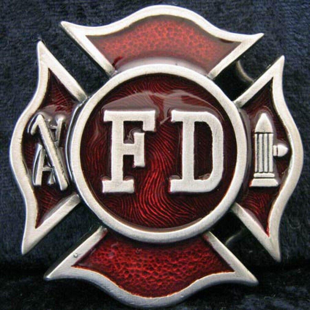 Buckle der US-Feuerwehr, Firefighter, Fire Department, Gürtelschnalle