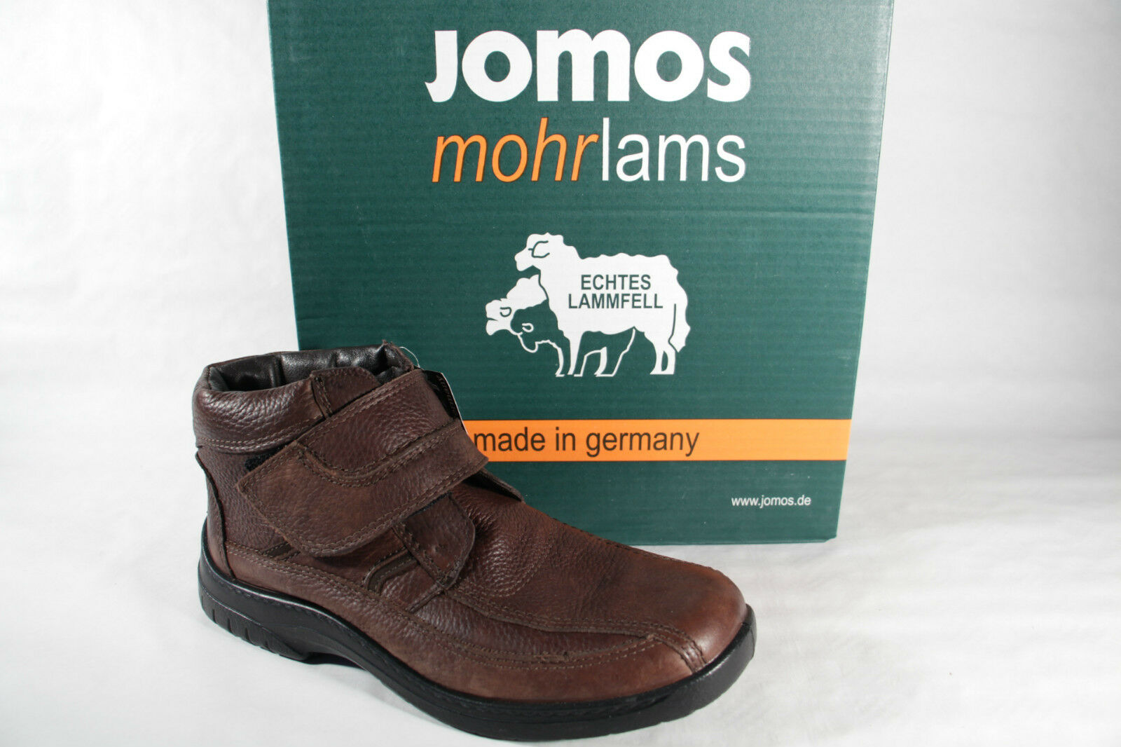 Jomos Winter Boots Brown, Soft Real Leather, Kv, Real Lambskin New