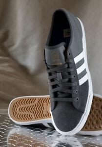 Adidas-Originals-Mens-Matchcourt-RX-Skateboard-Shoes-Grey-White-NWT