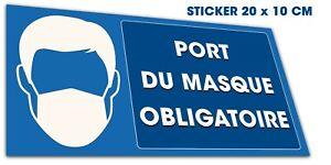 Stickers autocollant masque obligatoire