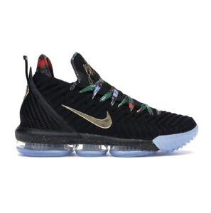 Nike Lebron 16 XVI KC Size 11 Black Metallic Gold CI1518 ...