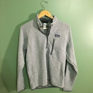 Patagonia-Men-039-s-Heather-Gray-Better-Sweater-1-4-Zip-Pullover-Fleece-Size-Small