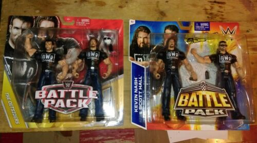 .WWE Mattel Battle Pack NWO Kevin Nash & Scott Hall New