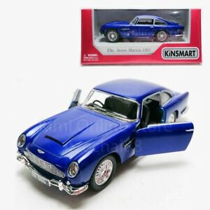 Kinsmart-1-38-Die-cast-1963-Aston-Martin-DB5-Car-Blue-Model-with-Box-Collection