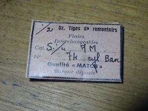 """PIÈCE HORLOGERIE MONTRE FE 5½/"""" 68 A UNE TIGE DE REMONTOIR"""