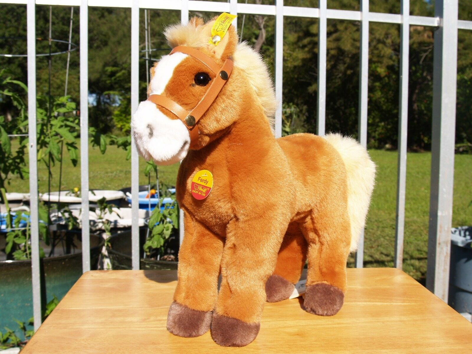 STEIFF PALOMINO FERDY HORSE - 13    34 CM -  072642 - 1992-2000 - NEW - ALL TAGS