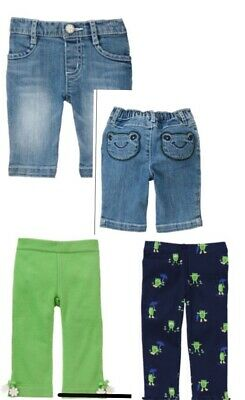 Gymboree Flower Showers 6-12-18 3T 5T Green Pants Frog Jeans Leggings 11