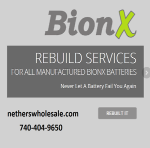 Rebuild service for  Bionx E-Bike battery 36 Volt PL-350  latest styles