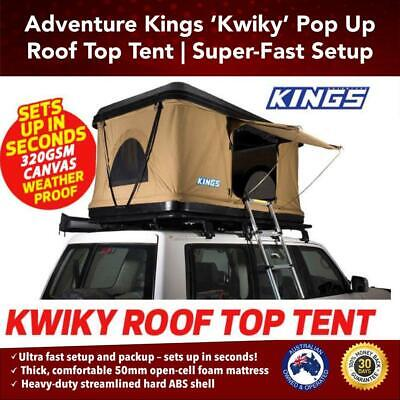 Outdoor Pop Up Roof Top Tent With Ladder Hard Shell