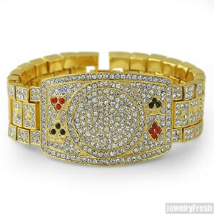 Gold-Tone-Iced-Out-Poker-Champion-Bracelet