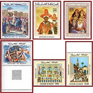 Maroc-Art-peinture-tableau-paintings-lot-neuf-MNH