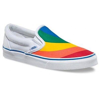 Vans Rainbow Pride W US 6.5 White LGBTQ