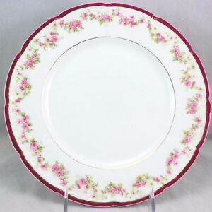 Image is loading FINE-SET-6-ANTIQUE-BERNARDAUD-LIMOGES-CHINA-DINNER-  sc 1 st  eBay & FINE SET 6 ANTIQUE BERNARDAUD LIMOGES CHINA DINNER PLATES GOLD ...