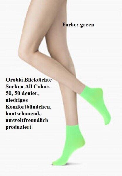 3 Pack:Oroblu Blickdichte Socken All Colors 50 denier, niedriges Komfortbündchen