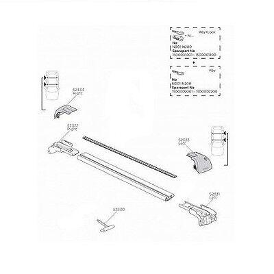 Medium Black Thule 9592 WingBar Edge System for fixpoint//Flush Rail