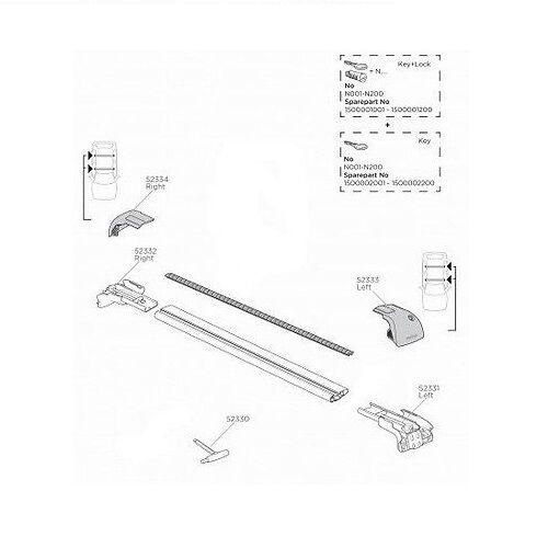 Thule Wingbar Edge 959 Spare Parts Multi-Listing 9591 9594 9592 9595 9593