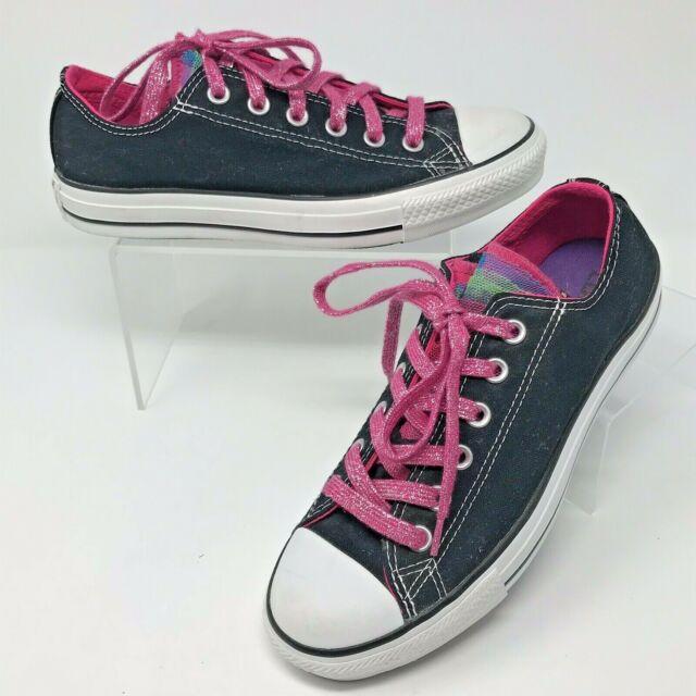 Black SNEAKERS Shimmer Pink Shoelaces