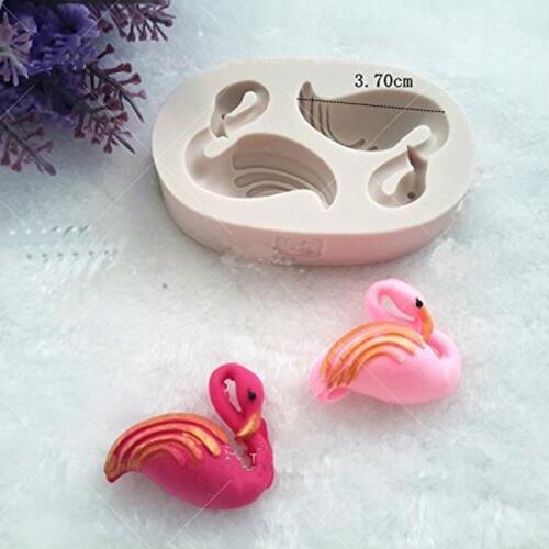 Flamingo Bird Silicone Fondant Mold Cake Decorating Sugarcraft Chocolate Mould L