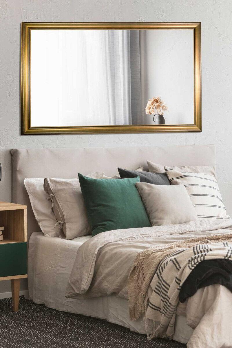 Large Gold Black Modern Chic Design Leaner Wall Mirror 167 X 106cm Full Length For Sale Online Ebay