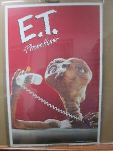 Vintage-Poster-E-T-The-Extra-Terrestrial-Movie-ET-1982-Phone-home-Inv-G3762