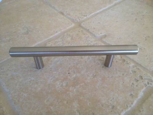 "Stainless 4/""  Cabinet  Handle Solid Steel Great Buy!"