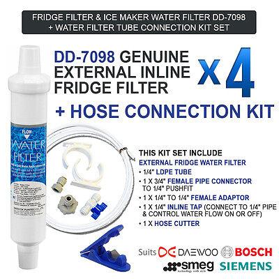 4x Compatible External water filter for Neff Bosch Siemens Fridge DD-7098 497818