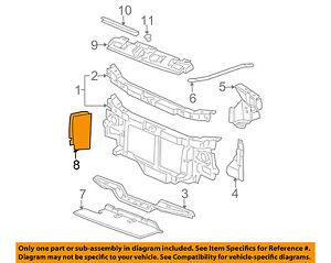 GM OEM Radiator-Baffle Left 15034805