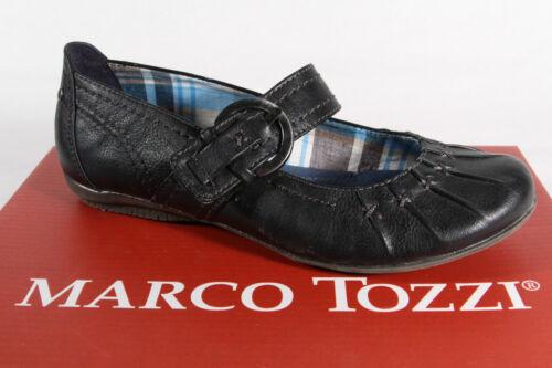 Kunstleder   NEU! Marco Tozzi Ballerina Slipper schwarz