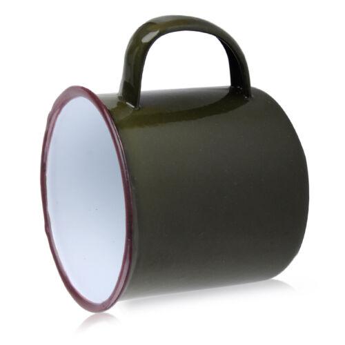 Vintage Style Enamel Cup Mug for Drinking Useful Bear Tea Camping Hiking 300ml