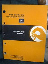 John Deere 640e Skidder Amp 648e Grapple Skidder Owner Operators Manual Omt145109