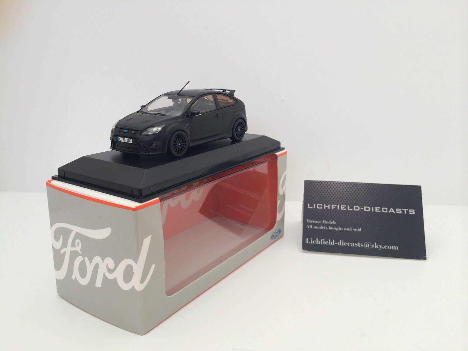 Minichamps 1 43 FORD Focus RS500 Dealer Edition en  noir mat  produit de qualité
