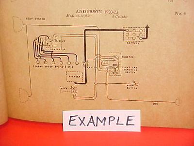 1919 1920 1921 1922 1923 1924 1925 1926 1927 1928 buick auto wiring diagrams  | ebay  ebay