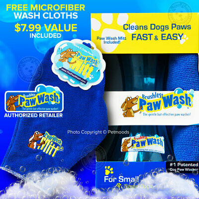 Small Dog Brushless Paw Wash Portable With Free Microfiber Drying Mitt Paw Dulzura Agradable