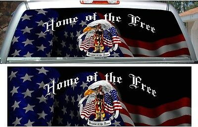 Soldier freedom brave american flag cornhole game board decal wraps