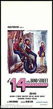 I 14 DELLA BOND STREET LOCANDINA CINEMA 1973 WILD LITTLE BUNCH PLAYBILL POSTER