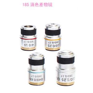 185-achromatic-objective-lens-for-biological-microscope-4X-10X-40X-60X-100X-160