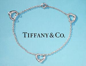 Tiffany-amp-Co-Sterling-Silver-Elsa-Peretti-3-Open-Heart-Bracelet