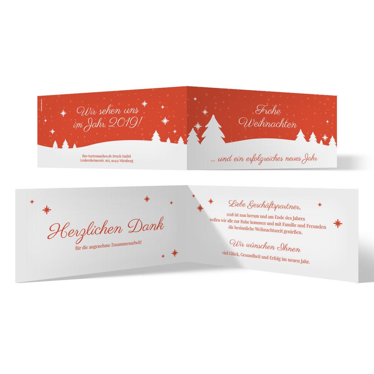Geschäftliche Weihnachtskarten Grußkarten individuell - Winterlandschaft