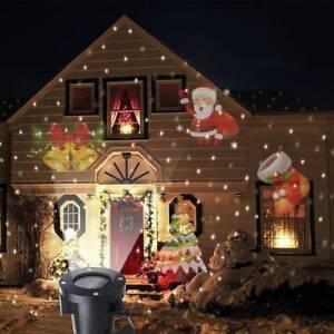 Proiettore Luci Natalizie Per Esterno Ebay.Natale In Movimento Laser Proiettore Luce Led Da Esterni Natale Paesaggio Arredamento Da Giardino Ebay