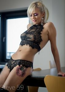 Sexy-Black-Lace-Bra-and-Knicker-Lingerie-Set-Underwear-See-Through