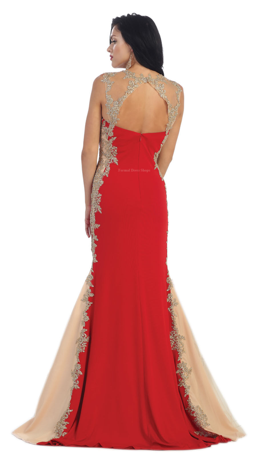 Stretchy evening formal dance prom gown red carpet gala - Designer red carpet dresses ...