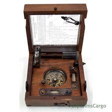 "Marine Master Box 4.5"" w/ Compass, Telescope, Clinometer, Spirit Level, Alidade"