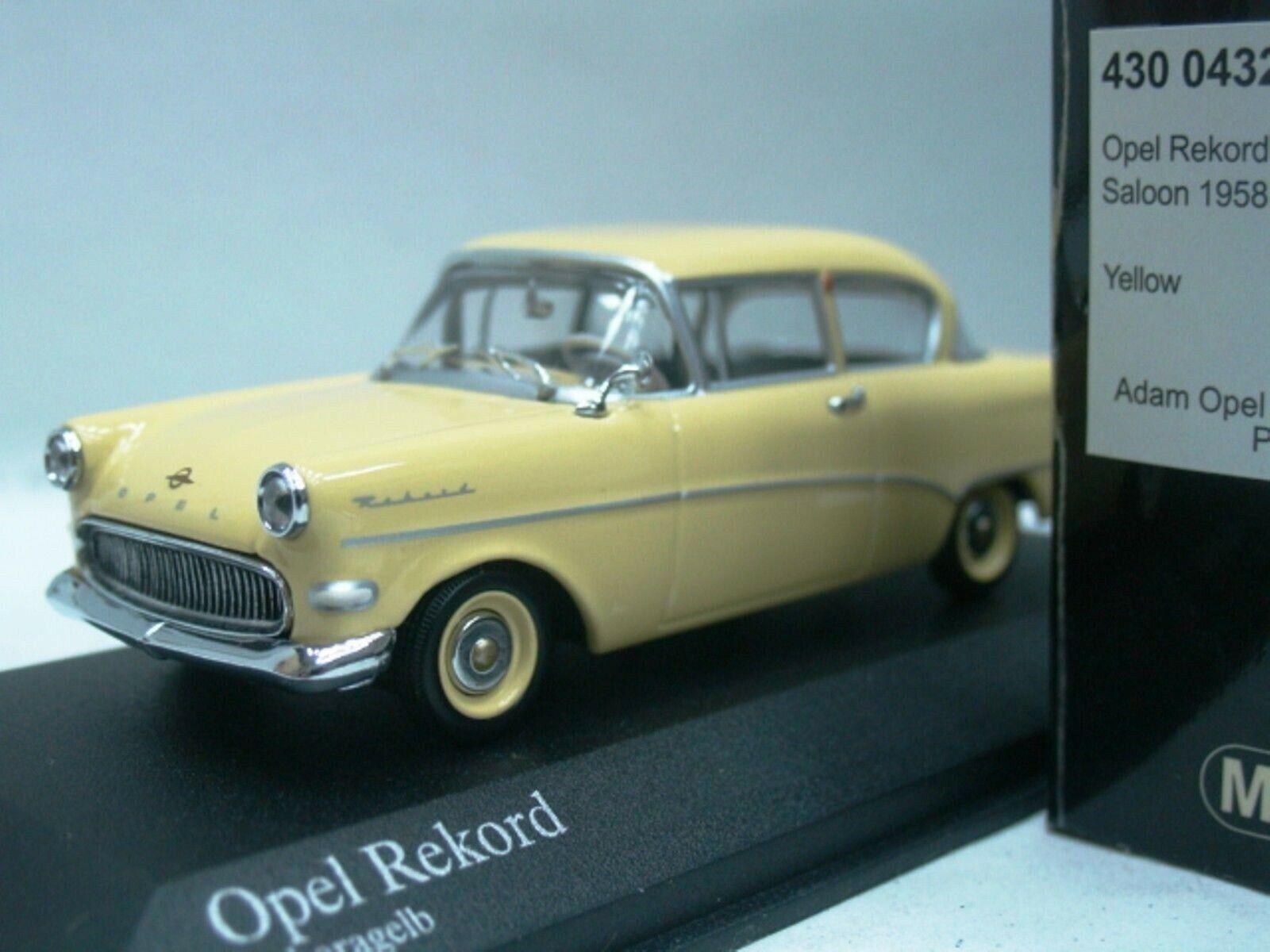 Wow extrêmeHommest rare OPEL REKORD P1 Berline  2d 1958 Jaune 1 43 Minichamps-diplomate  marque célèbre