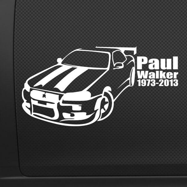 Paul Walker memorial car sticker vinyl decal window bumper RIP no crust jdm van