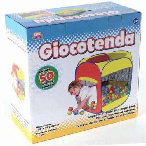 Tenda Cubo da Gioco Casetta per Bambini con 50 Palline Colorate Kidz Corner