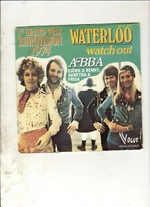 ABBA-Waterloo-FRENCH-7-034-w-PS-70s-POP